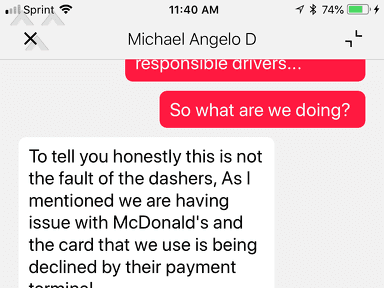DoorDash Customer Care review 323674
