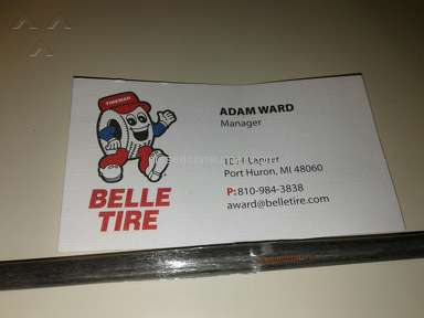 Belle Tire - Would not admit to damage on Vehicle .