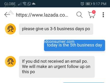 Lazada Philippines Customer Care review 758311