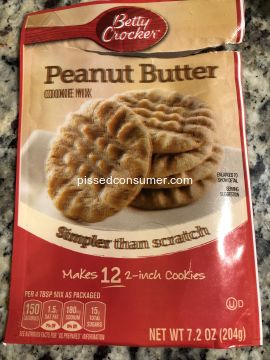 Betty Crocker Peanut Butter Cookies Baking  Mix