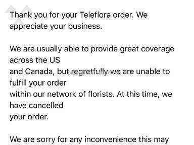 Teleflora - Delivery Service Review