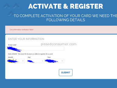 PayPower Card Information Verification Failed
