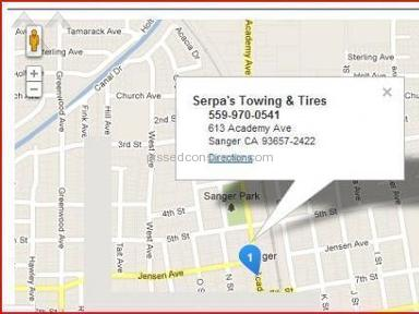 SERPA TOWING Service Centers and Repairs review 8861