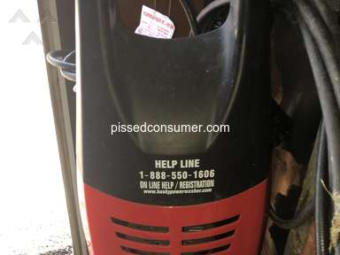 Husky Powerwasher - Terrible sprayer !!