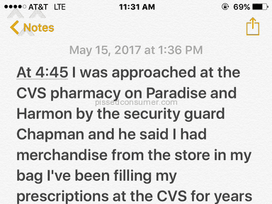 Cvs Pharmacy - Unprofessional security guard very rude man