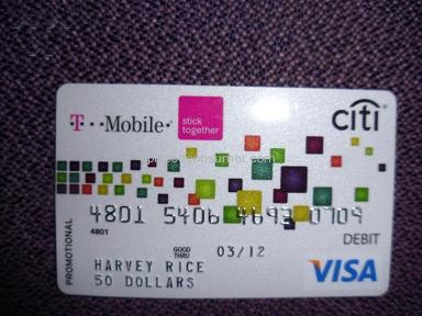 Tmobile - T-Mobile Rebate Card Scam