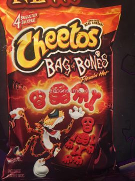 Cheetos Flamin Hot Bags Of Bones Puffs