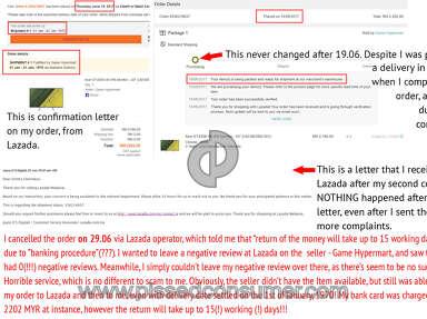 Lazada Malaysia - Fraudulent Service