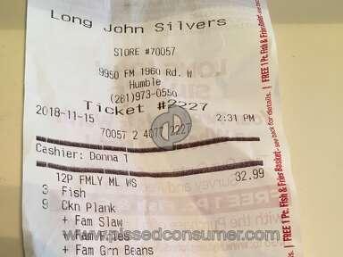 Long John Silvers - Order mistake
