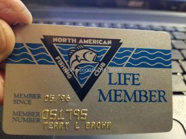 North American Fishing Club - Life membership