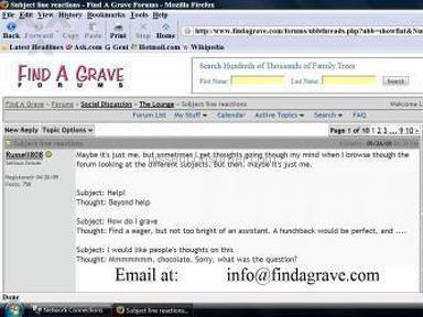 Find A Grave Forum review 902