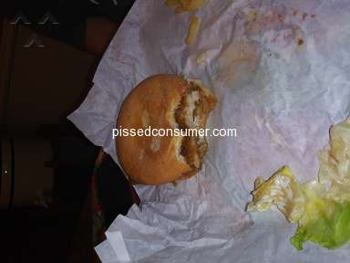 Whataburger - The worst overly-cooked fish sandwich with rotten lettuce