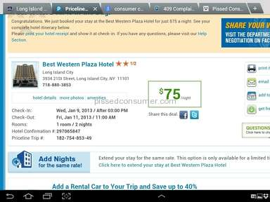 Priceline lacks customer service and fineprint misleads customers