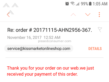 Kiss Market Online Shop - Where is my order?