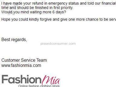 Fashionmia - Click & bait, poor quality & horrendous refund process