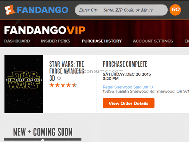 Fandango Double Charges;and Does NOT reimburse