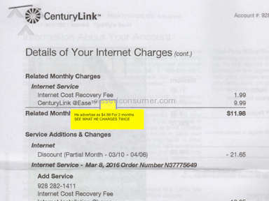CenturyLink Internet Service review 127553