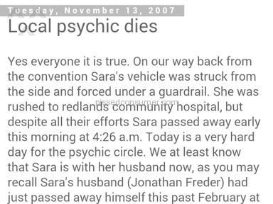 Sara Freder - Clairvoyant  Reading Review from San Antonio, Texas