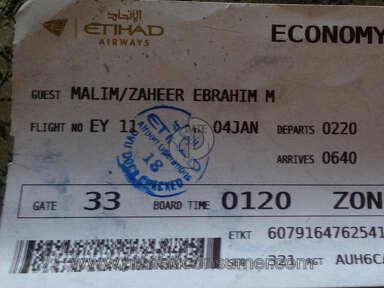 Etihad Airways Flight 11 review 187680