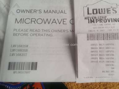 Lg Electronics Lmv1683st Microwave review 242288