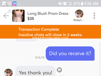 Non response from Mercari