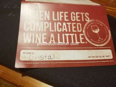 Outback Steakhouse - Service was excellant, and I would like your employee be acknowledged for service
