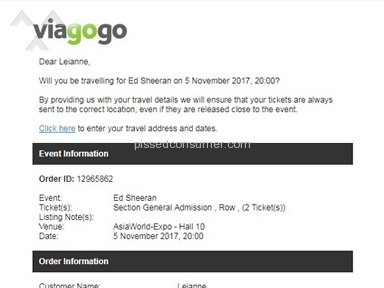 Viagogo's Terrible Customer Service