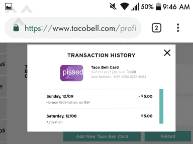 Taco Bell Mobile Application review 356760