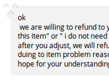 Aliexpress - The seller asks for adjust the reason for the dispute before do a refund