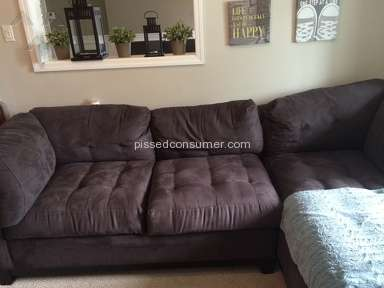 Raymour and Flanigan - Cindy Crawford Metropolis Slate 3 Pc Sectional Review from Roslyn Heights, New York