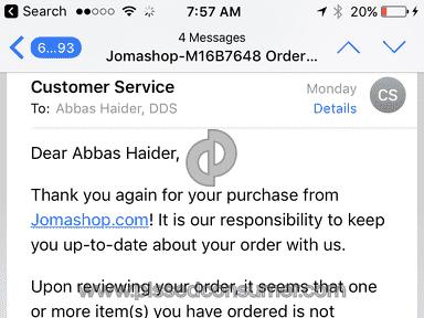 Jomashop - Wrong item sent