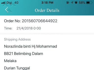 Lazada Malaysia - I can't update my customer tracking number