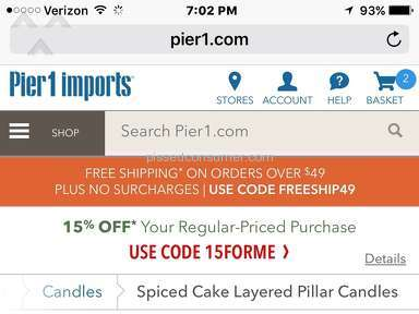 Pier 1 Imports Candle review 177844