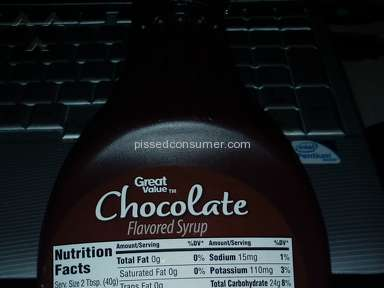 Walmart - Traces of Anchovies in Great Value Chocolate Flavored Syrup!