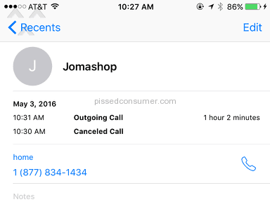 Jomashop Customer Care review 131633