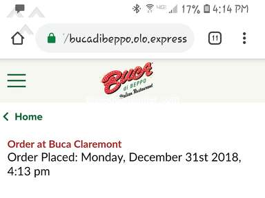 Buca Di Beppo Pick Up Service review 359486