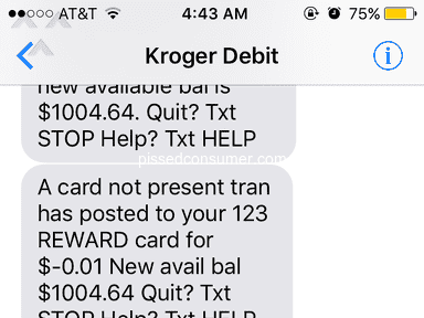 Kroger Personal Finance Customer Care review 344520