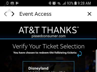 "ATT - AT&T Thanks app / ""Event Access"" scam"