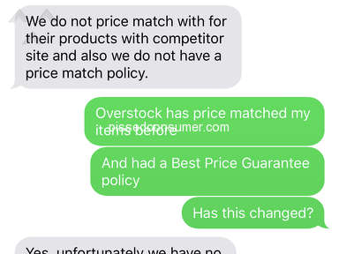 Overstock - No Price Match and High Prices