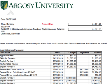 Argosy University - Argosy finance
