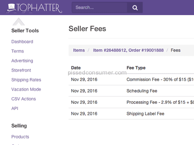 Tophatter - Do not waste your time trying to make money selling on this site