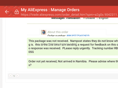 Aliexpress - TOTAL SCAM - NO BUYER PROTECTION, THEY JUST IGNORE YOU!