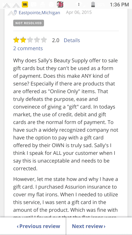 Sally Beauty Supply S Refuse To Accept Their Own Gift Card