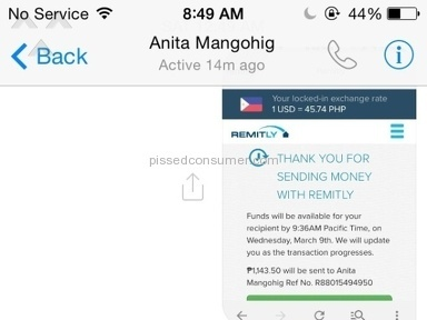 Remitly Money Transfer Review from San Juan, Manila