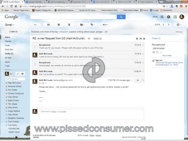 Hyla - Email responses... sometimes!