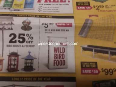 Tractor Supply - Overpriced for advertised Bird Seed on Sale