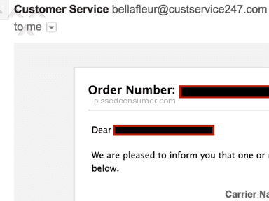 Bella Fleur Customer Care review 107649