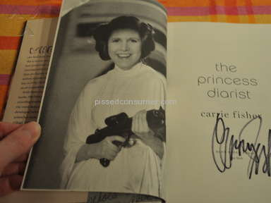 Ebay - Topsignedbooks - SIGNED Princess Diarist by Carrie Fisher, autographed, new with event photos