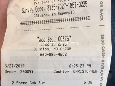 Taco Bell - There is no words to say at the disappointment I have seen today!