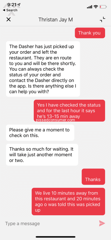 1168 Top Rated DoorDash Reviews and Complaints with Media